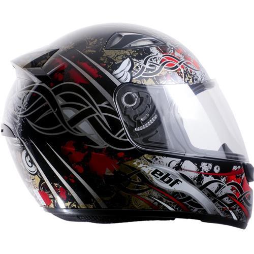 Capacete Moto EBF EOX Aztec Fechado 56 Preto