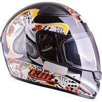 Capacete Moto EBF EOX Cassino Fechado 58 Preto