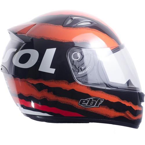Capacete Moto EBF EOX Repsol Fechado 60 Preto