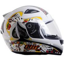 Capacete Moto EBF EOX Cassino Fechado 58 Branco