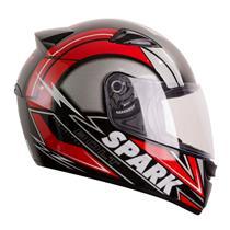 Capacete Moto EBF New Spark Bolt P05 Fechado 58 Preto Vermelho