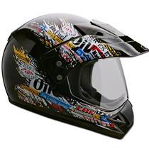 Capacete Moto EBF Motard Gas Cross 60 Preto