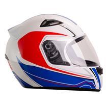 Capacete Moto EBF EOX Asgard B05 Fechado 56 Branco Vermelho