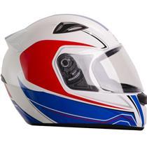 Capacete Moto EBF EOX Asgard B05 Fechado 58 Branco Vermelho