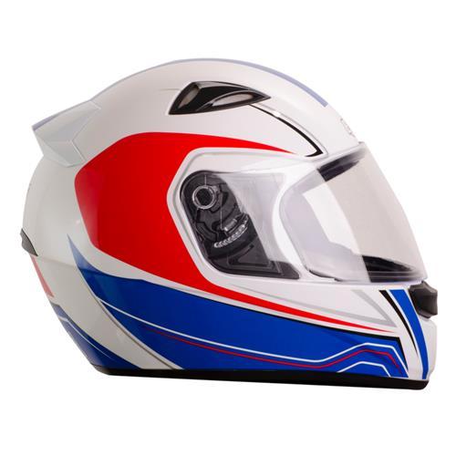 Capacete Moto EBF EOX Asgard B05 Fechado 60 Branco Vermelho