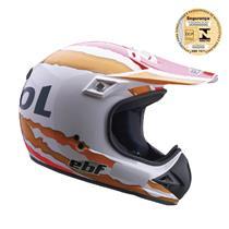 Capacete Moto EBF Six Repsol Cross 60 Branco