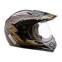 Capacete Moto EBF Motard Street Cross 60 Dourado