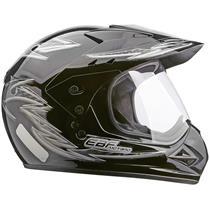 Capacete Moto EBF Motard Street Cross P04 60 Preto Prata