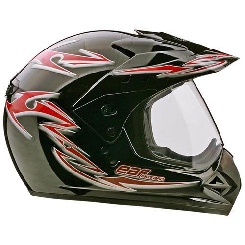 Capacete Moto EBF Motard Street Cross P05 56 Preto Vermelho