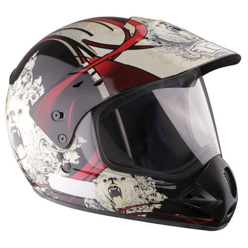 Capacete Moto EBF Super Motard Urso 58 Preto