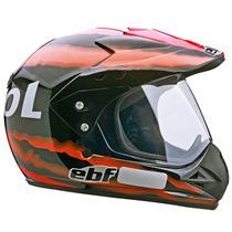 Capacete EBF Motard Super Repsol Cross 56 Preto