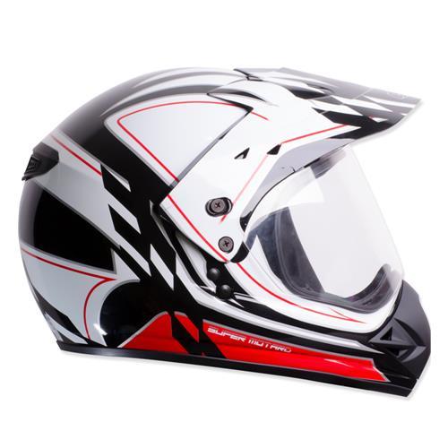 Capacete Moto EBF Super Motard Grid Cross P11 56 Preto
