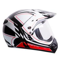 Capacete Moto EBF Super Motard Grid Cross P11 60 Preto