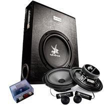 Combo Som Automotivo Corzus Spectro CB2 Caixa Slim, amplificadoor e falantes 2 vias