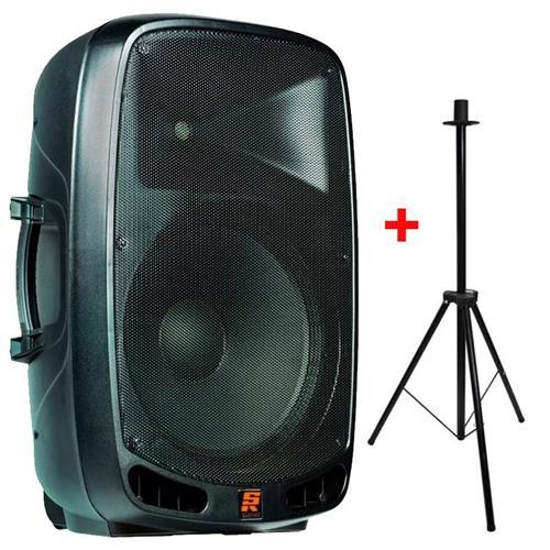 "Caixa Staner PS1501A 15"" 200W Bi-Amplificada USB/SD/MP3/FM/Bluetooth"