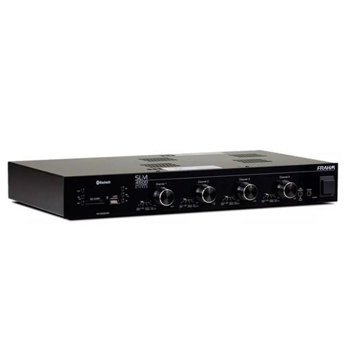 Amplificador Frahm Slim 4500 Com Bluetooth Usb Sd Card Fm E Setorizador De 4 Canais
