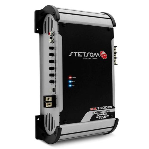 Módulo Amplificador Som Automotivo Stetsom Export Line EX 1200 EQ 1 Canal 1.400W RMS