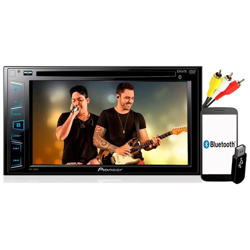 "Dvd Player Pioneer AVH-298BT ""6.2 Pol Bluetooth USB 2 DIN"