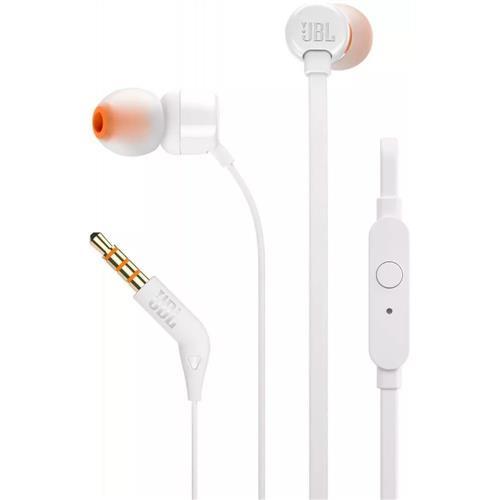 Fone de Ouvido JBL T110 In Ear Intra Auricular Branco
