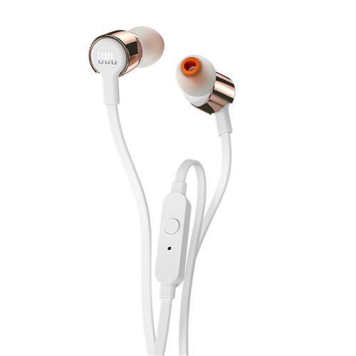 Fone de Ouvido JBL T210 Intra Auricular Com Microfone Branco Rose