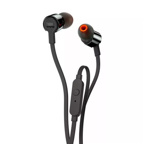 Fone de Ouvido JBL T210 Black In Ear Com Microfone