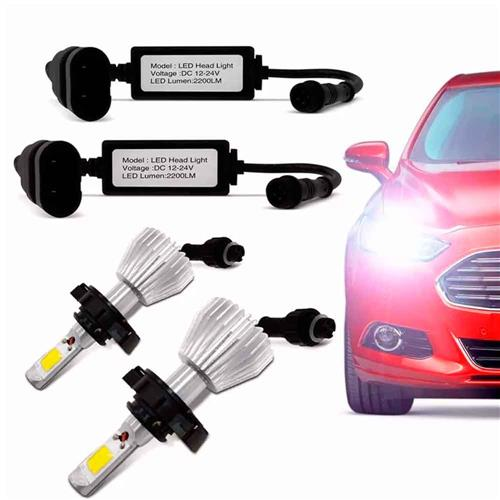 Kit Lâmpada Super Xenon Led Headlight H1 6000K 35W 12V 3200 Lumens