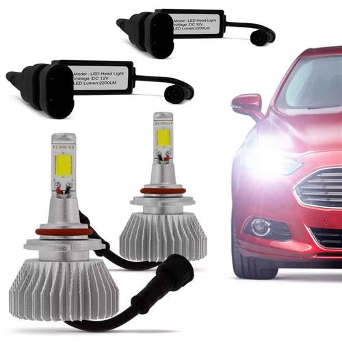 Kit Lâmpada Super Xenon Led Headlight HB3 9005 6000K 35W 12V 3200 Lumens