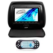 Encosto Cabeça Com Leitor Dvd e USB Com Ziper Tela 7 Polegadas H-Tech
