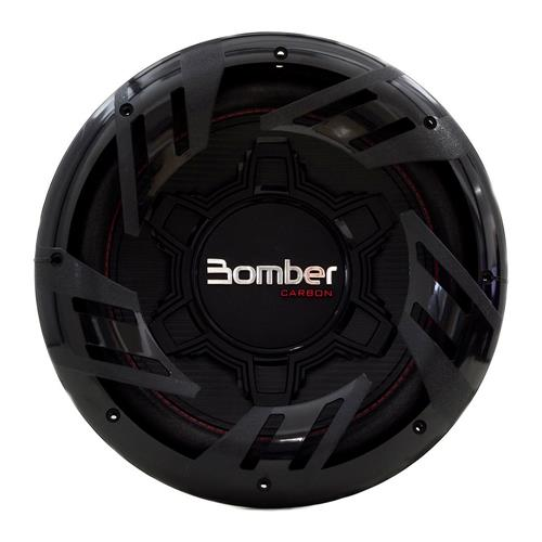 Subwoofer Bomber Carbon 12 Pol 250W RMS 4 Ohms Bobina Simples