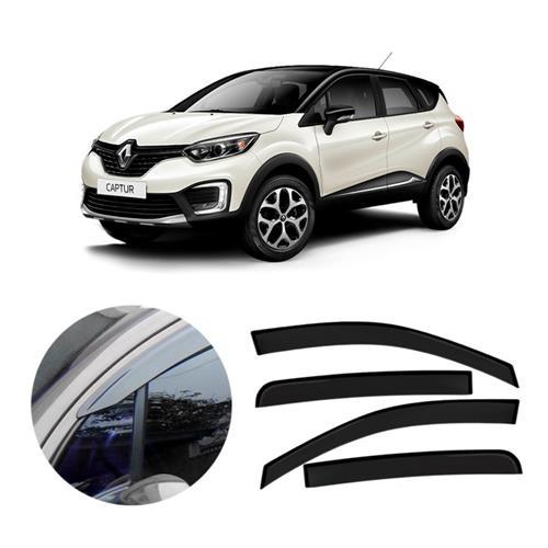 Calha Defletor De Chuva Tg Poli Renault Captur 2016 e 2017 4 Portas