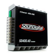 Módulo Amplificador de Som Automotivo Soundigital SD400.4D Evo 4 Ohms