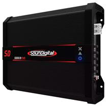 Módulo Amplificador de Som Automotivo Soundigital SD5000 Black 1D EVO 1 Ohm