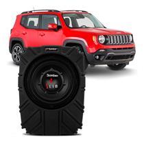 "Caixa Amplificada Ativa Selada Bomber Slim 8"" Original Jeep Renegade 175 Watts RMS"