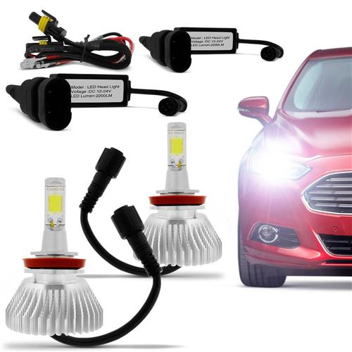 Kit Lâmpada Super Xenon Led Headlight H27 6000K 35W 12V 3200 Lumens