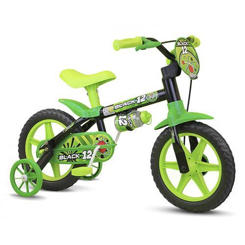 Bicicleta Infantil Nathor Black Aro 12