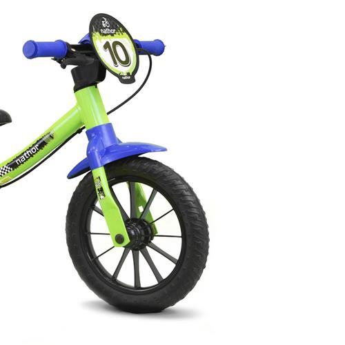 Bicicleta Infantil Balance Sem Pedal Nathor Verde/Azul
