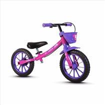 Bicicleta Infantil Balance Sem Pedal Nathor Rosa