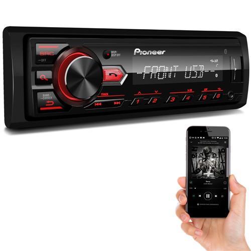 Som Automotivo Pioneer MVH 298BT Bluetooth com Entrada USB