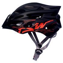 Capacete Preto/laranja Ciclista Mtb Speed Tam M/g Tsw Elite