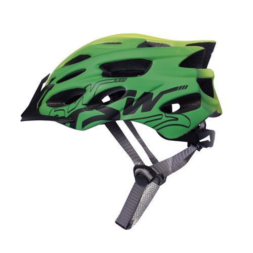 Capacete Tsw Bicicleta Speed Elite Tam M/g Pro Led Verde/Preto