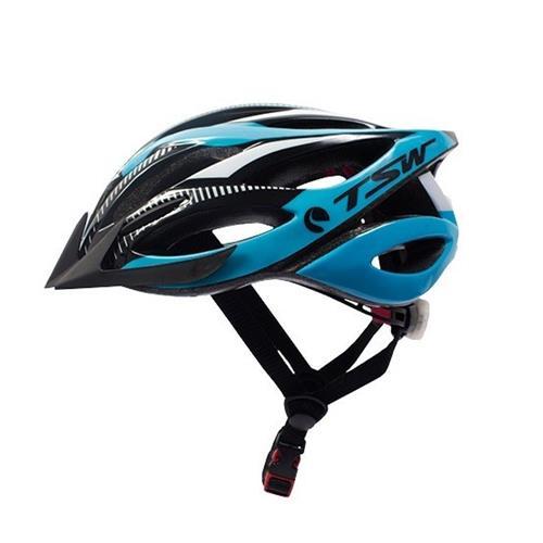 Capacete Ciclismo Mtb Plus 85 TSW Com Led Tamanho G/GG Azul e Preto
