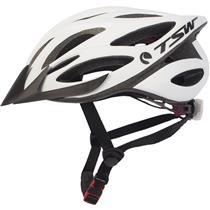 Capacete Ciclismo Mtb Plus 85 TSW Com Led Tamanho G/GG Branco e Preto