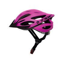 Capacete Bicicleta Rosa/preto Tsw Plus Tamanho G/gg Led