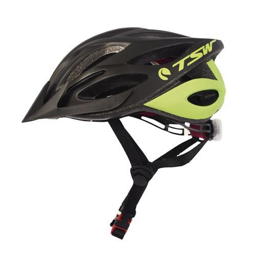 Capacete Original Tsw Ciclista Profissional Tam G/gg Preto/Verde