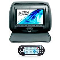 Encosto Cabeça Grafite Leitor Dvd USB Com Ziper Tela 7 H-Tech