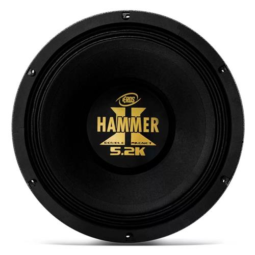 Alto Falante Woofer Eros 12 Pol E12 Hammer 5.2K 2600W RMS 4 Ohms