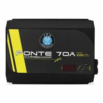 Fonte Carregador Bateria Automotiva JFA 70A 3500W Automatica Bivolt Display Digital