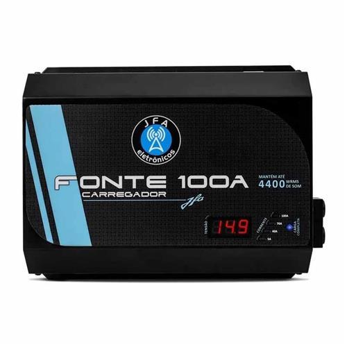 Fonte Carregador Bateria Automotiva JFA 100A 4400W Automatica Bivolt Display Digital